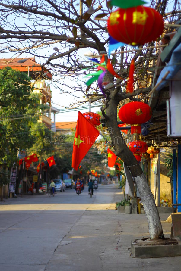 Квартал Ханоя старый - Вьетнам стоковые фото