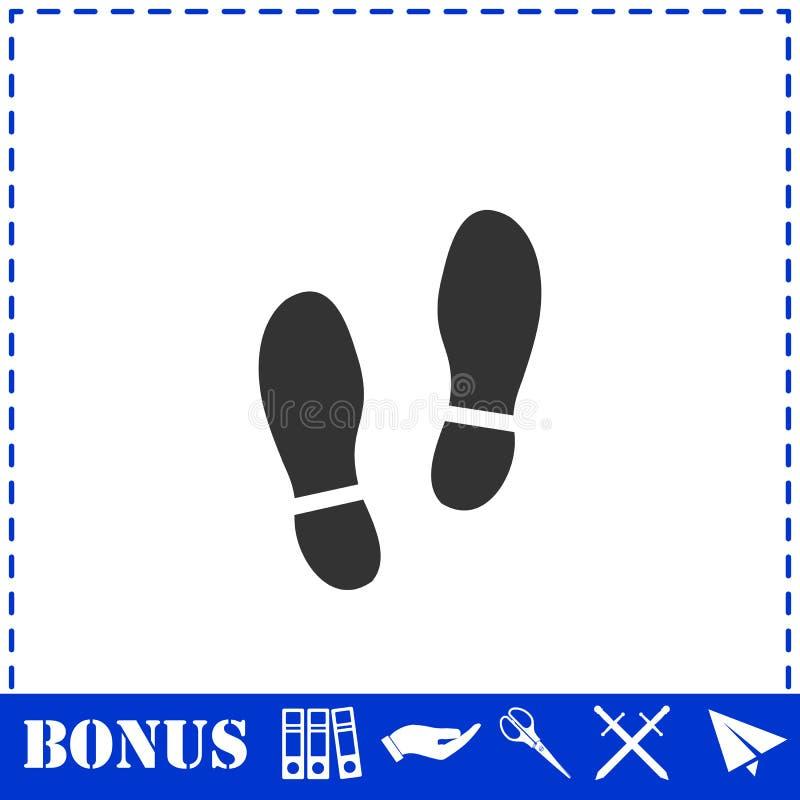 Квартира значка ботинок иллюстрация штока