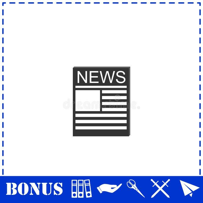 Квартира значка новостей иллюстрация вектора