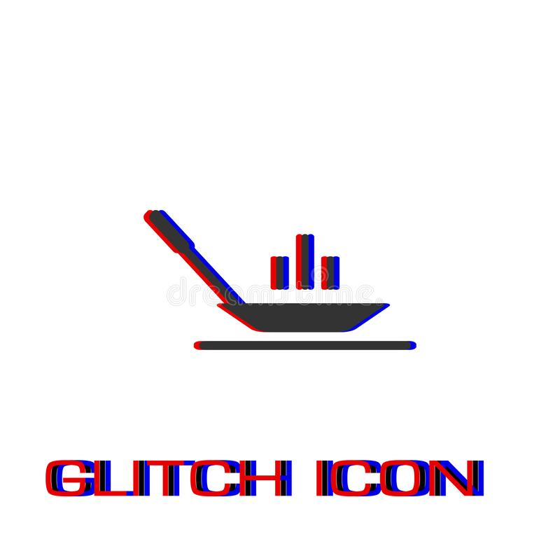 Квартира значка сковороды иллюстрация вектора