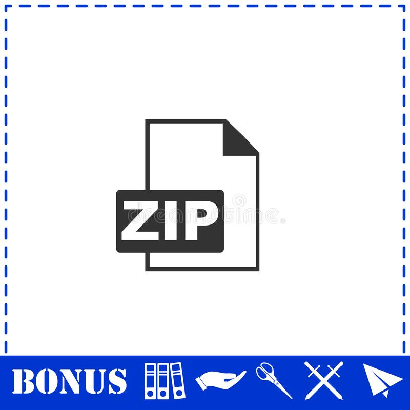 Квартира значка файла почтового индекса иллюстрация штока