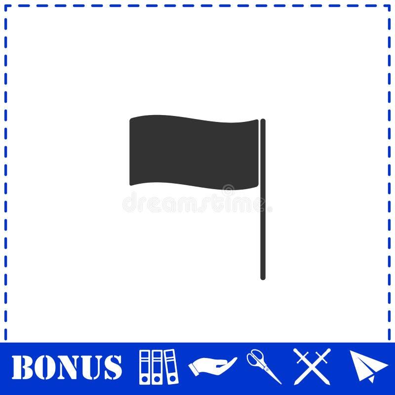 Квартира значка флага иллюстрация штока