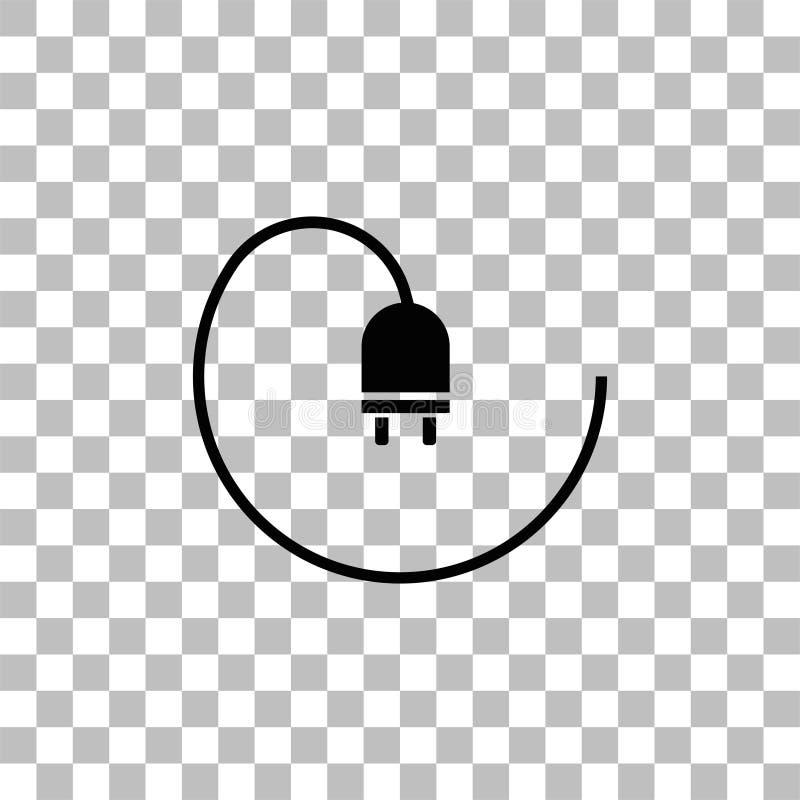 Квартира значка штепсельной вилки бесплатная иллюстрация