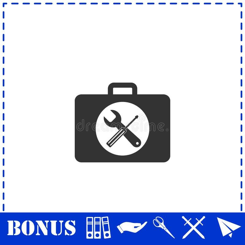 Квартира значка Toolbox иллюстрация штока