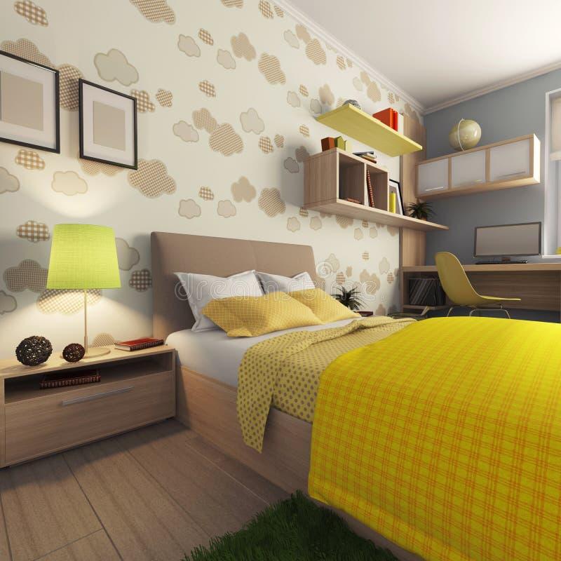 Квартира с комнатой для младенца иллюстрация штока