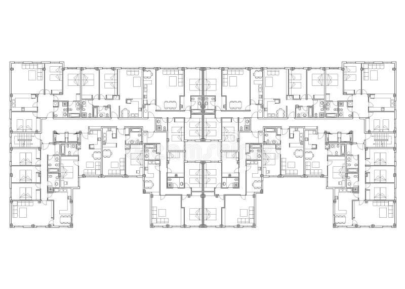 квартиры иллюстрация вектора