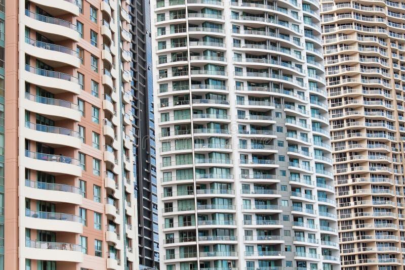 Квартиры Highrise, Брисбен, Австралия стоковое фото rf