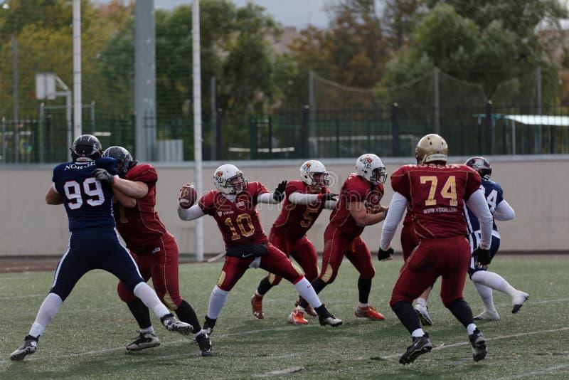 Квалифицируя спичка чемпионата американского футбола европейского России 2016 против Норвегии стоковые фото