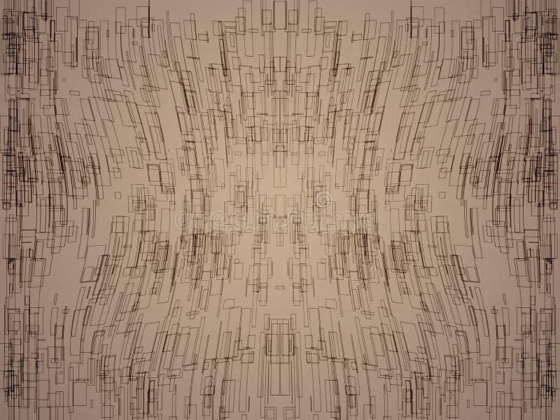 Квадратная абстрактная предпосылка иллюстрация штока