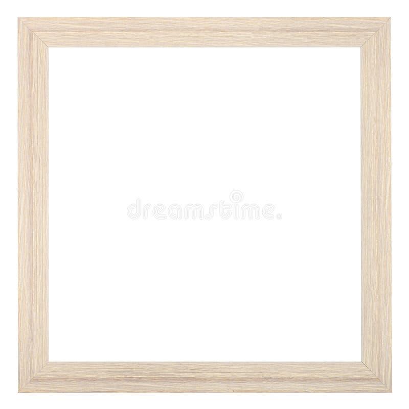 Квадратная деревянная текстурированная узкая картинная рамка стоковая фотография