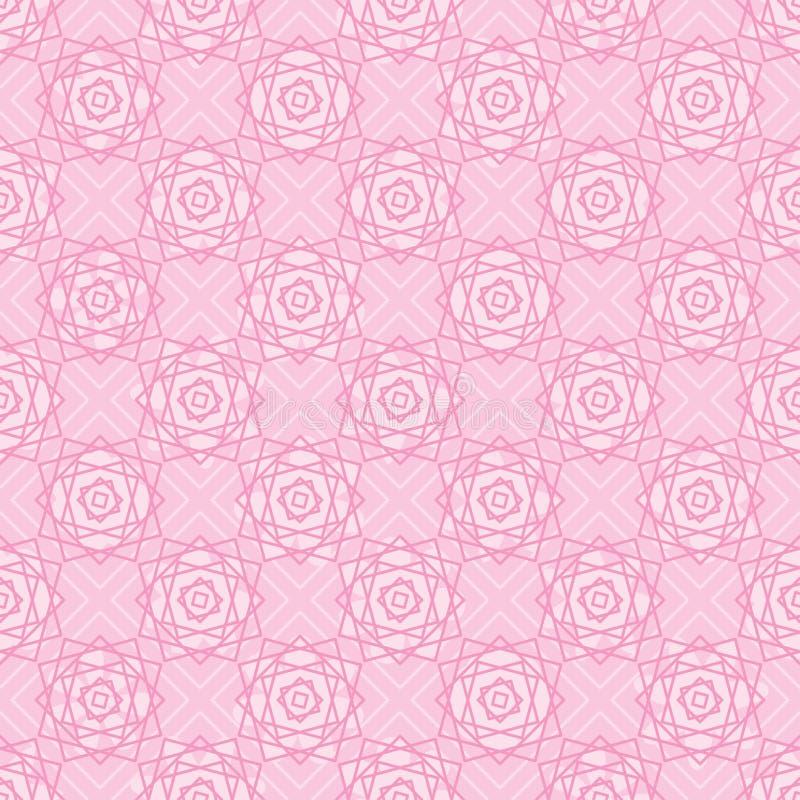 Квадратная линия картина симметрии цветка розового пинка безшовная иллюстрация штока