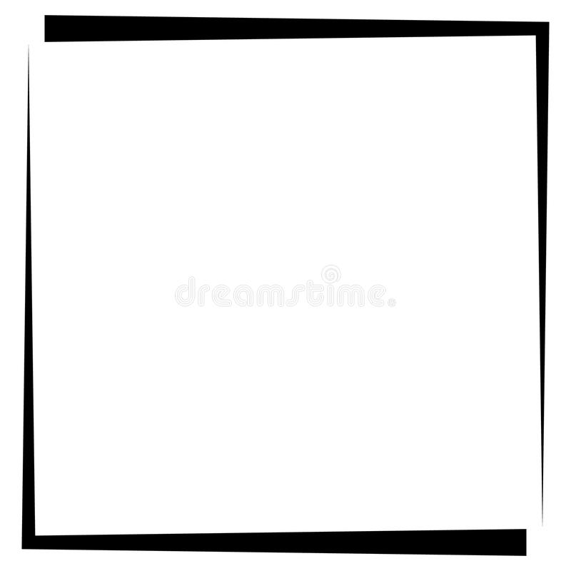 Download Квадратная рамка фото формата, граница фото Иллюстрация вектора - иллюстрации насчитывающей линия, силуэт: 81805783