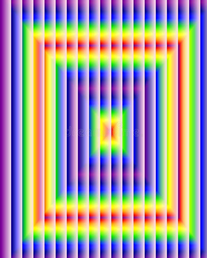 Квадратная сияющая предпосылка абстрактная предпосылка иллюстрация вектора