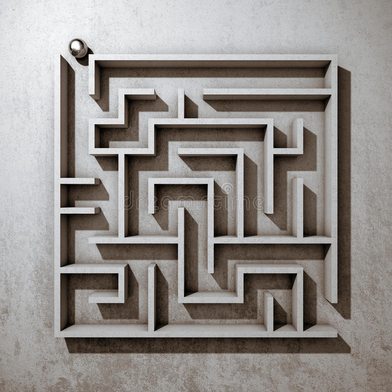 Квадратный лабиринт бесплатная иллюстрация