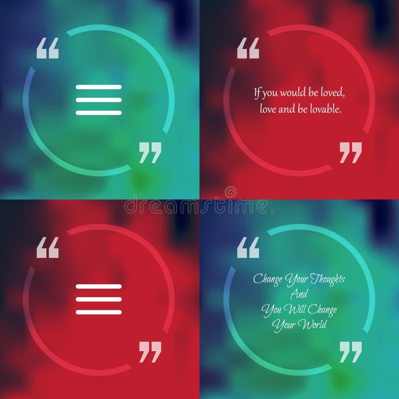 Квадратный пузырь текста цитаты бесплатная иллюстрация