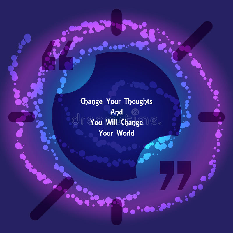 Квадратный пузырь текста цитаты иллюстрация штока