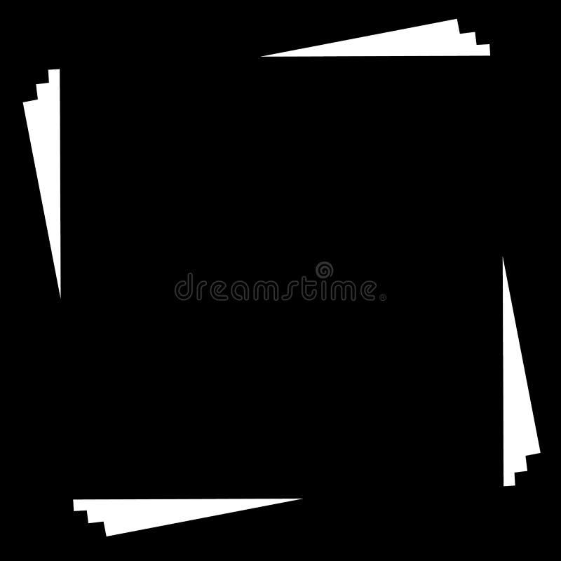 Download Квадратный элемент рамки с белым космосом Monochrome Иллюстрация вектора - иллюстрации насчитывающей рамка, просто: 81805960