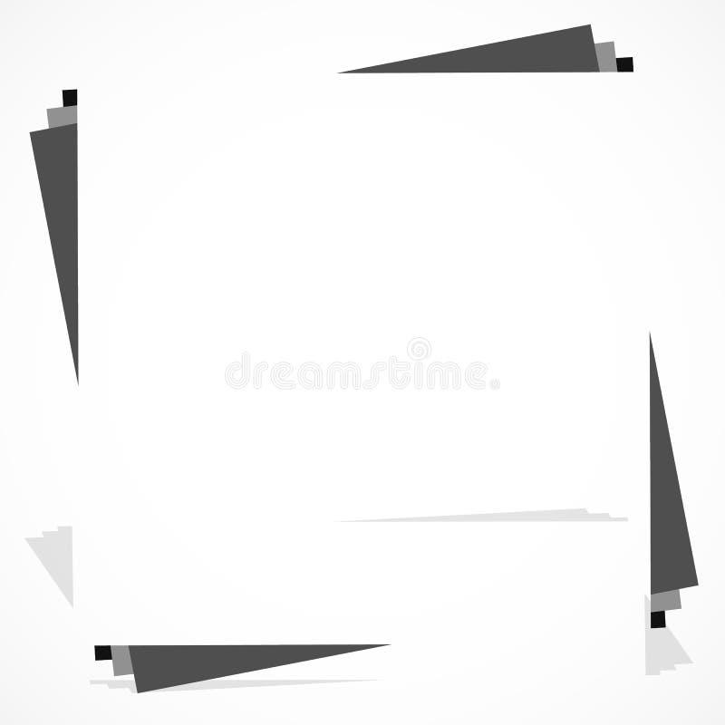 Download Квадратный элемент рамки с белым космосом Monochrome Иллюстрация вектора - иллюстрации насчитывающей uncolored, рамка: 81805965