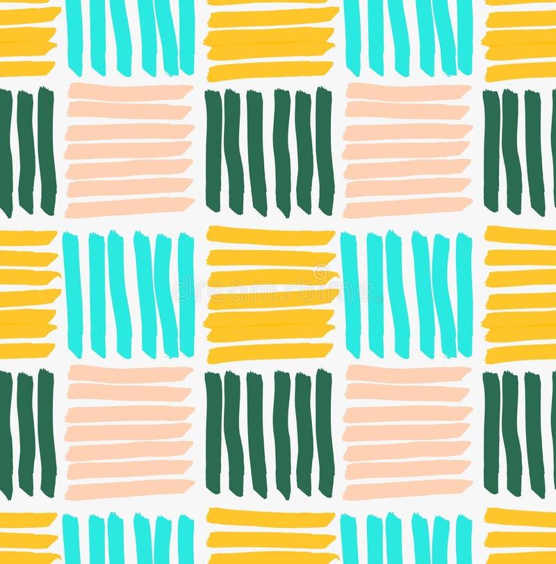 Квадраты нарисованные отметкой горизонтальные и вертикальные striped иллюстрация вектора