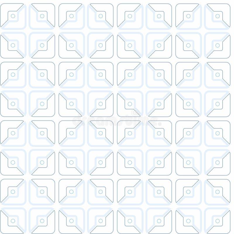Квадраты, половинные, чертеж контура, картина, геометрическая, безшовная, белая предпосылка иллюстрация вектора