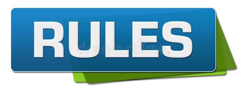 Квадраты правил зеленой округленные синью иллюстрация штока