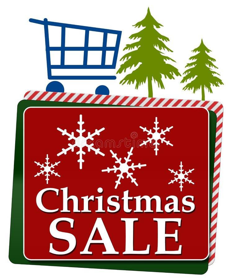 Квадраты продажи рождества красные зеленые иллюстрация штока