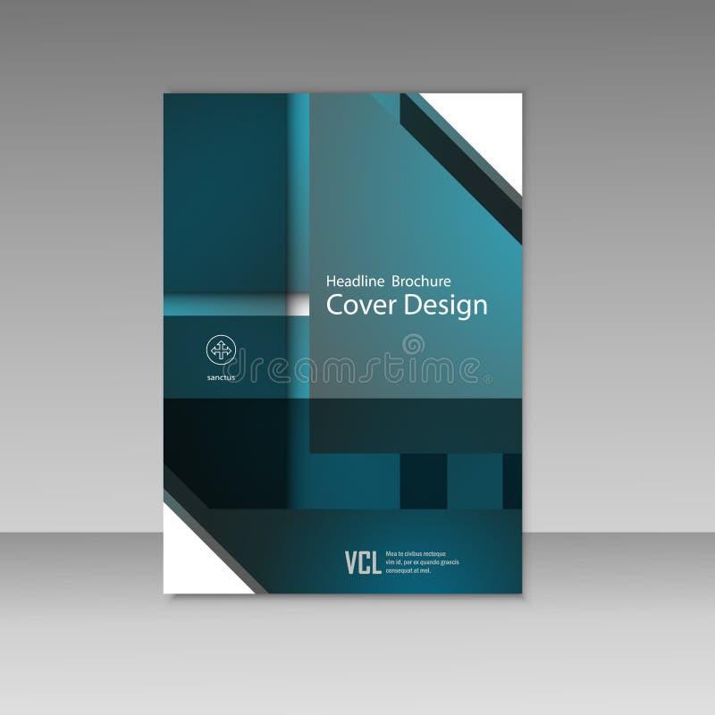 Квадрат бизнес-отчета вектора и геометрический дизайн крышки План шаблона брошюры дела, дизайн крышки, годовой отчет бесплатная иллюстрация