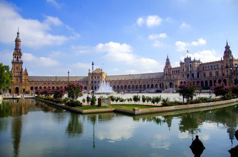 Квадрат в Севилье, Испания Испании стоковое изображение rf
