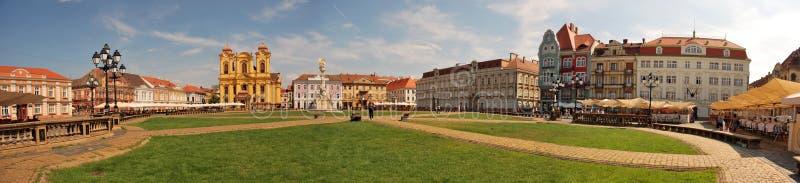 Квадрат в центре Timisoara старом стоковые изображения