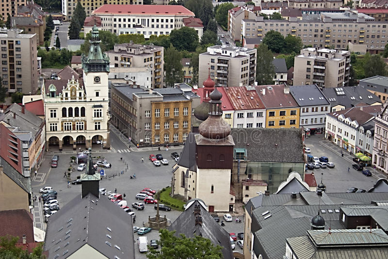 Квадрат города Nachod стоковые фото