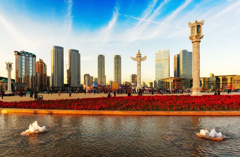 Квадрат Даляни Xinghai стоковое фото