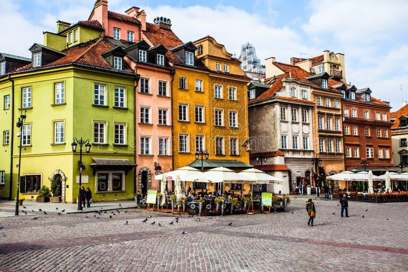 Квадрат замка в Варшаве, Польше стоковое изображение
