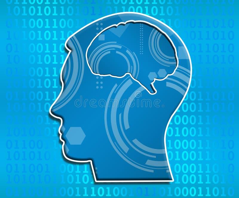 Квадрат искусственного интеллекта бинарный головной
