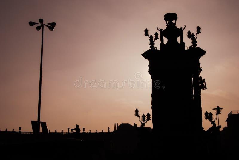 Квадрат Испании, Барселона стоковая фотография