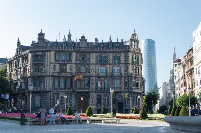 квадрат Испании moyua bilbao стоковые изображения rf