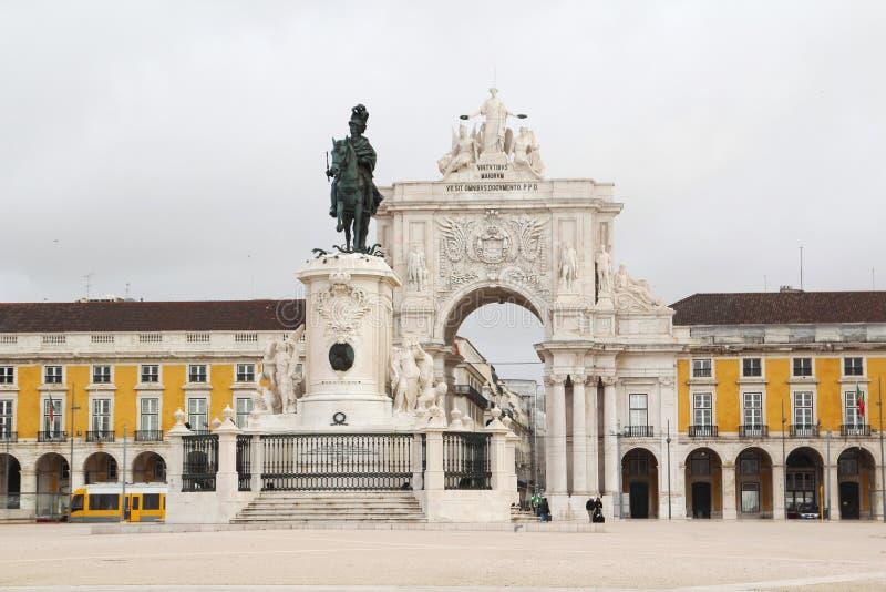 Квадрат коммерции, Лиссабон, Португалия стоковое изображение