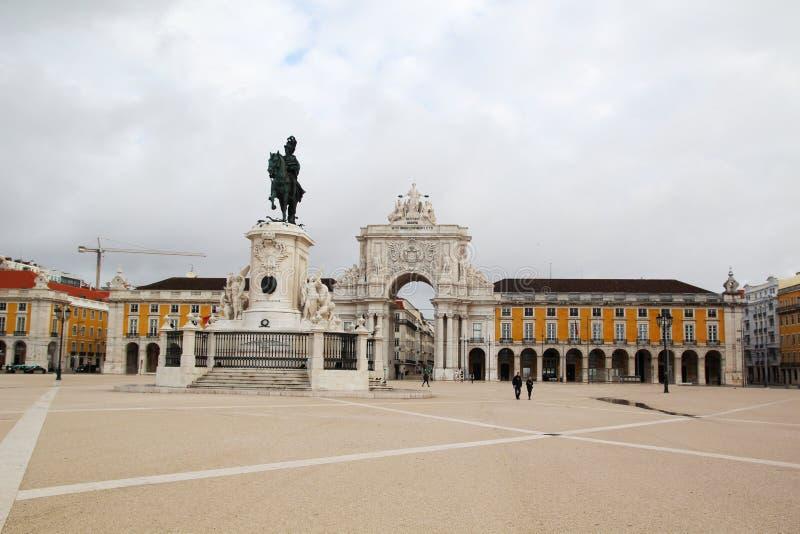 Квадрат коммерции, Лиссабон, Португалия стоковая фотография rf