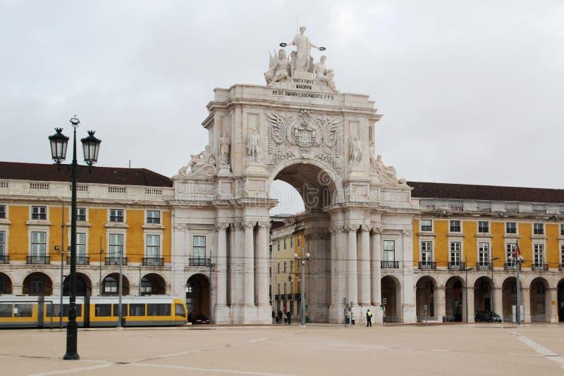 Квадрат коммерции, Лиссабон, Португалия стоковые изображения rf