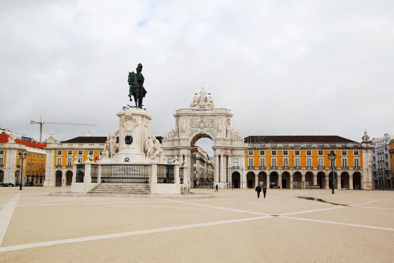 Квадрат коммерции, Лиссабон, Португалия стоковые фото