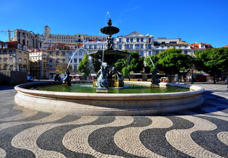 Квадрат Лиссабона, Португалия стоковое изображение