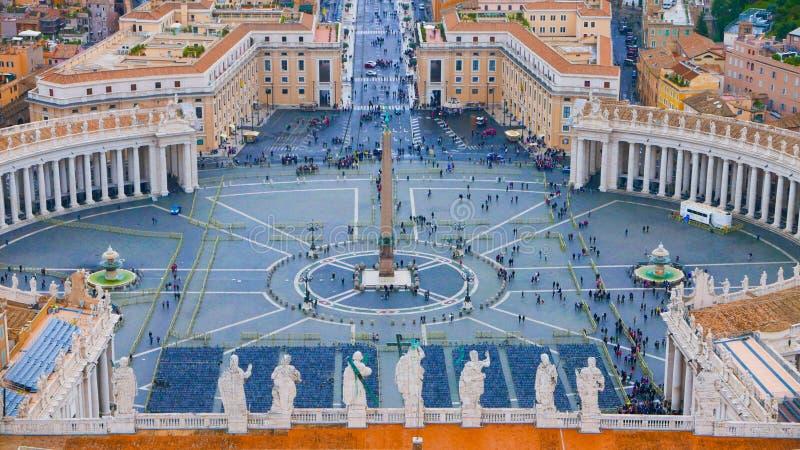 Download Квадрат на государстве Ватикан в Риме - вид с воздуха St Peters Стоковое Изображение - изображение насчитывающей зодчества, перемещение: 81807331