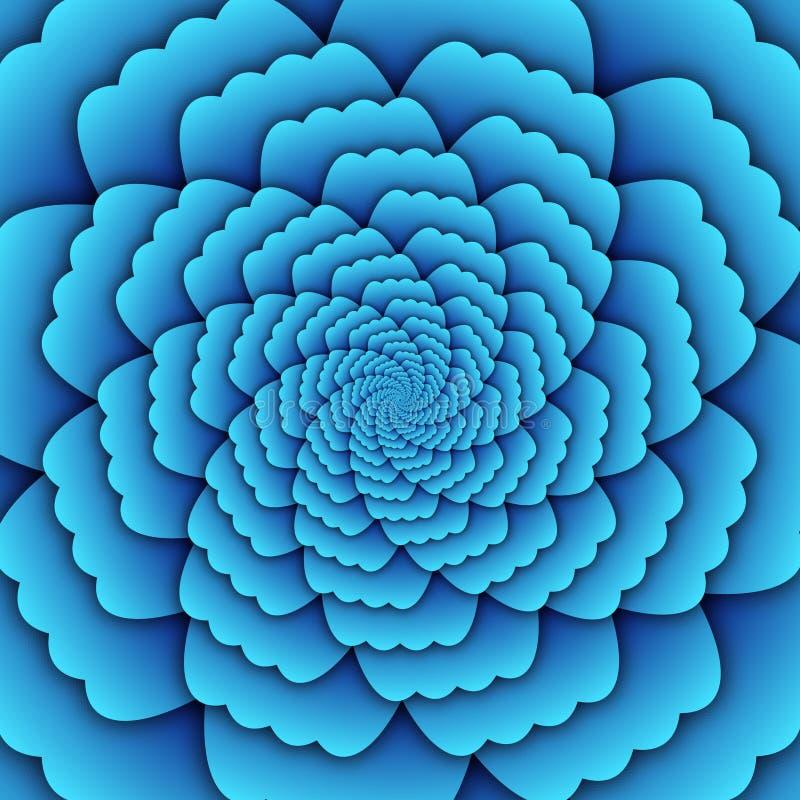 Квадрат предпосылки декоративной картины мандалы цветка конспекта искусства иллюзии небесно-голубой бесплатная иллюстрация