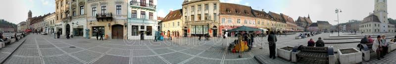 Квадрат совету, Brasov, 360 градусов панорамы стоковое фото