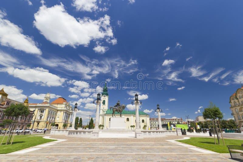 Квадрат соединения - Oradea, Румыния стоковые фотографии rf