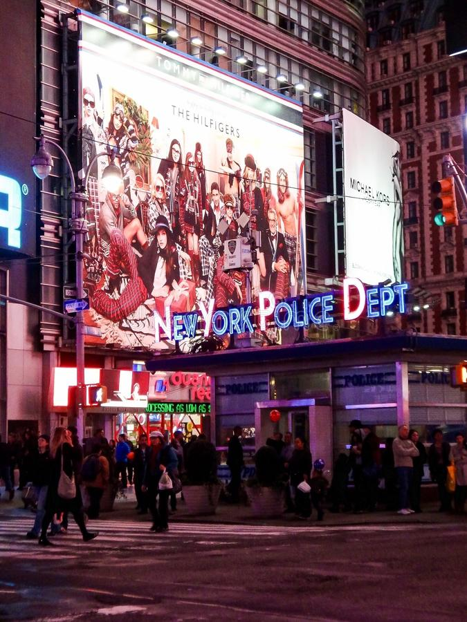Квадрат станции Управления полиции Нью-Йорка временами, Нью-Йорк, США стоковое фото