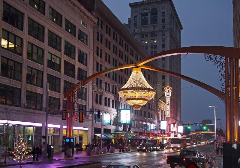 Квадрат театра, Кливленд стоковое изображение