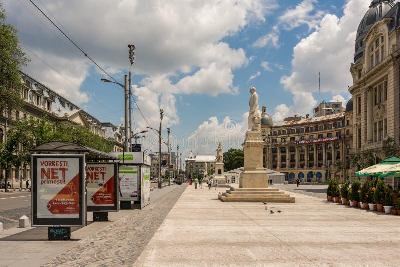 Квадрат университета в Бухаресте стоковое фото