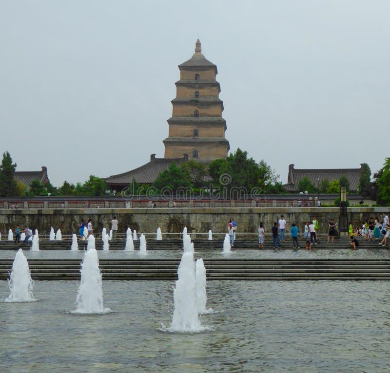 Квадрат фонтана Сианя музыкальный стоковые фото