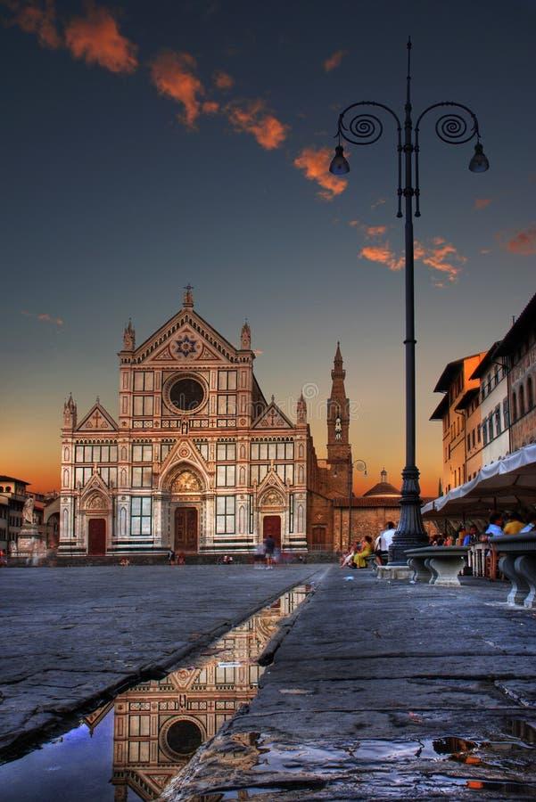Квадрат Флоренс Santa Croce стоковая фотография