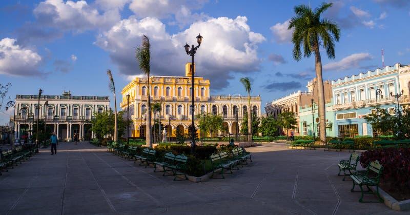 Квадрат человека Sancti Spiritus, Кубы стоковые изображения rf